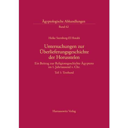 Untersuchungen zur Überlieferungsgeschichte der Horusstelen