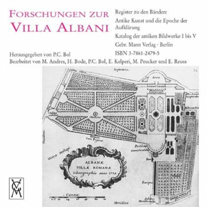 Forschungen zur Villa Albani - Register zu den Bänden: Antike Kunst und die Epoche der Aufklärung - Katalog der antiken Bildwerke I bis V - CD