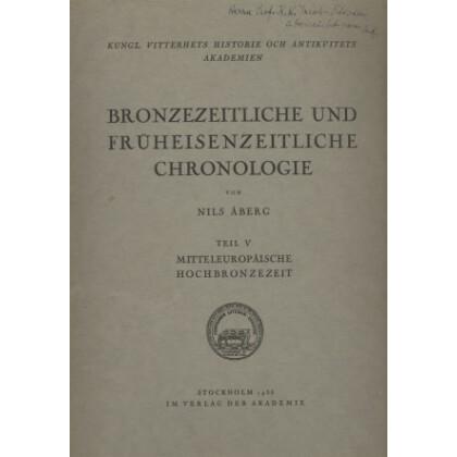 Bronzezeitliche und Früheisenzeitliche Chronologie - Mitteleuropäische Hochbronzezeit