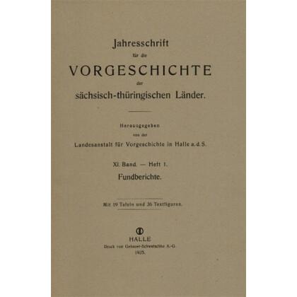 Jahresschrift für mitteldeutsche Vorgeschichte Band 11 - Fundberichte