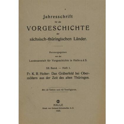 Das Gräberfeld bei Obermöllern aus der Zeit des alten Thüringen