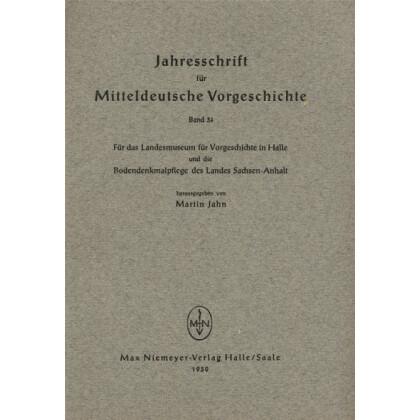 Jahresschrift für mitteldeutsche Vorgeschichte Band 34
