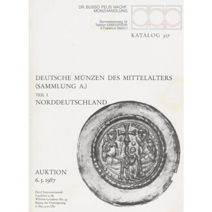 Deutsche Münzen des Mittelalters. Brakteaten Sammlung A - Allersheimer. Teil I - Norddeutschland