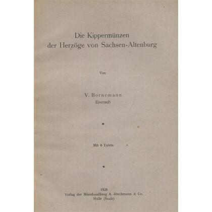 Die Kippermünzen der Herzöge von Sachsen  Weimar