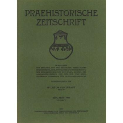 Prähistorische Zeitschrift, XXVII. Band 1936, 3/4. Heft