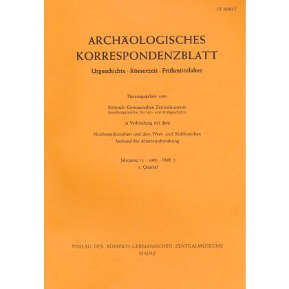 Archäologisches Korrespondenzblatt 1985/3