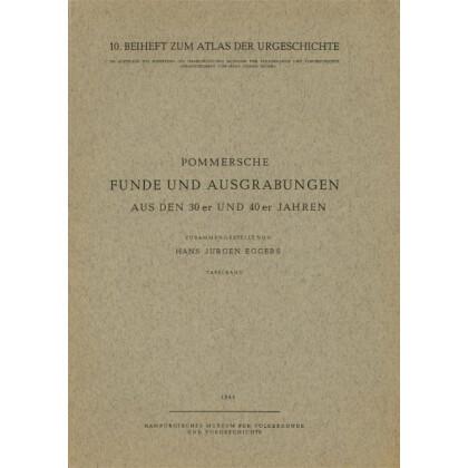 Pommersche Funde und Ausgrabungen aus den 30er und 40er Jahren. 2 Bände