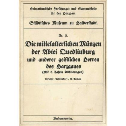 Die mittelalterlichen Münzen der Abtei Quedlinburg