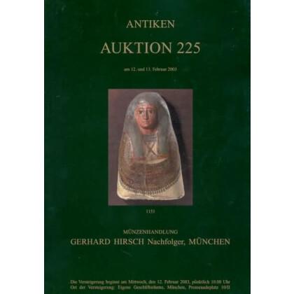 Antiken Auktionskatalog - Münzenhandlung Gerhard Hirsch. Antiken Auktion 225