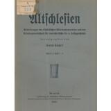 Altschlesien - Mitteilungen des Schlesischen...
