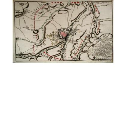 Plan der Stadt u: Vestung Schweidnitz