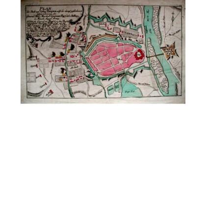 Plan der Stadt und Vestung Torgau