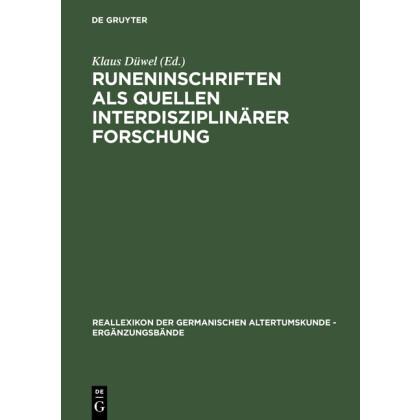 Runeninschriften als Quellen interdisziplinärer Forschung