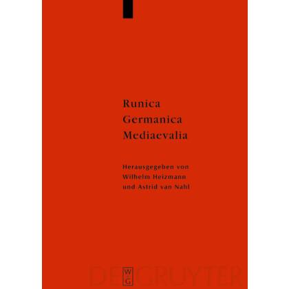 Runica - Germanica - Mediaevalia