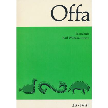 Offa-Zeitschrift Band 38 - Jahrgang 1981 - Festschrift für Karl Wilhelm Struve zum 65. Geburtstag