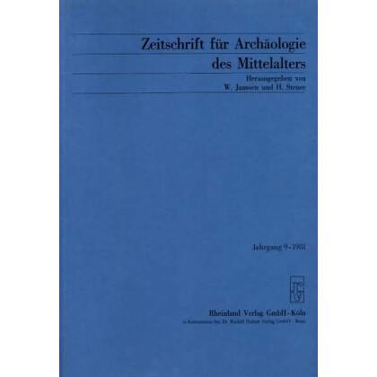 Zeitschrift für Archäologie des Mittelalters, Jahrgang 1981-9
