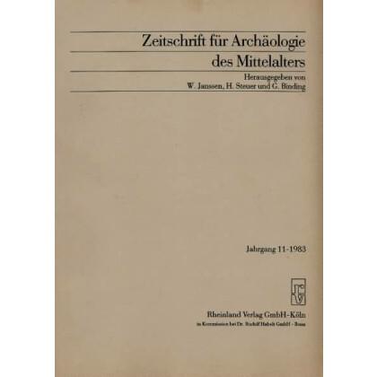 Zeitschrift für Archäologie des Mittelalters, Jahrgang 1983-11
