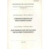 Chromatographische Analysemethoden - Zum Problem der...