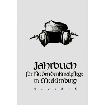 Bodendenkmalpflege in Mecklenburg, Jahrbuch 1965
