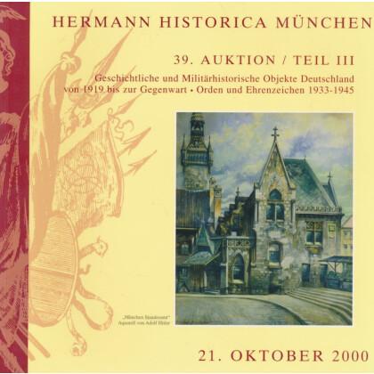 Hermann Historica München 39. Auktion Teil III, 21. Oktober 2000