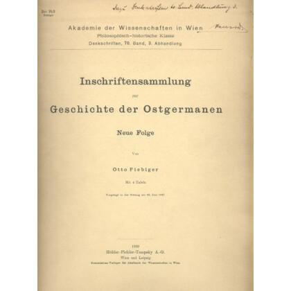 Inschriftensammlung zur Geschichte der Ostgermanen
