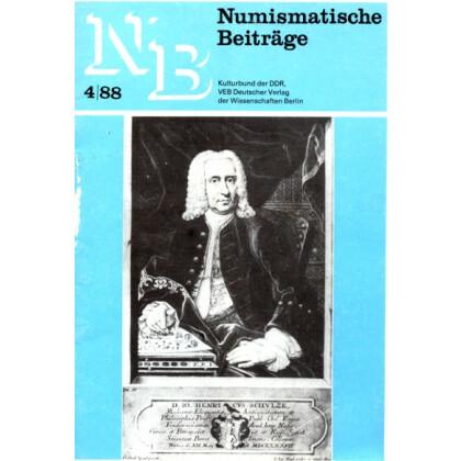 Numismatische Beiträge 10 Hefte - Kulturbund der DDR
