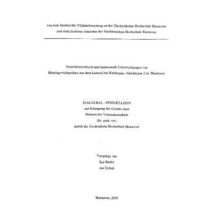 Materialorientierte und funktionelle Untersuchungen von Hirschgeweihgeräten