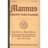 Mannus - Zeitschrift für deutsche Vorgeschichte,...