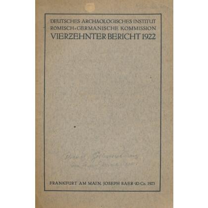 Bericht der Römisch Germanischen Kommission, Band 14 - 1922