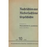 Nachrichten aus Niedersachsens Urgeschichte Heft 10