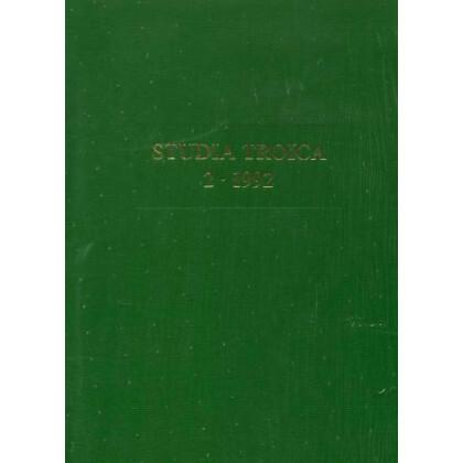 Studia Troica, Band  2 - 1992
