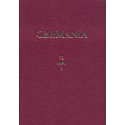 Germania Anzeiger der Römisch Germanischen Kommission des Deutschen Archäologischen Instituts Jahrgang 72, 1994