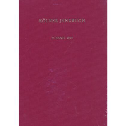 Kölner Jahrbuch für Vor- und Frühgeschichte, Band 27 - 1994