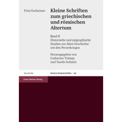 Kleine Schriften zum griechischen und römischen Altertum. Band II