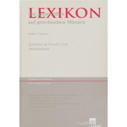 Lexikon der Aufschriften auf griechischen Münzen, Band I - Volume I