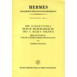 Die Collectanea Rerum Memorabilium des C. Iulius Solinus....