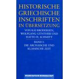 Historische Griechische Inschriften in Übersetzung...