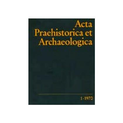 Acta Praehistorica et Archaeologica  1, 1970