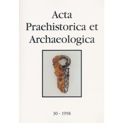 Acta Praehistorica et Archaeologica, Band 30 - 1998. Archäologie des Frankenreiches