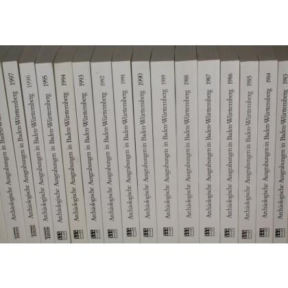 Archäologische Ausgrabungen in Baden-Württemberg, 20 Bände. 1981 - 2000