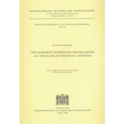 Unpublizierte Inschriften Westkilikiens aus dem Nachlaß Terence B. Mitfords