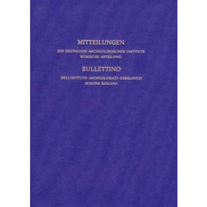 Mitteilungen des Deutschen Archäologischen Instituts Römische Abteilung Band 98, 1991
