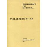 Jahresbericht der Gesellschaft pro Vindonissa 1976