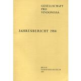 Jahresbericht der Gesellschaft pro Vindonissa 1984