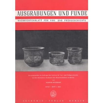 Ausgrabungen und Funde, Band 7 - 1962 Heft 1 - 6 - Kunstleder gebunden