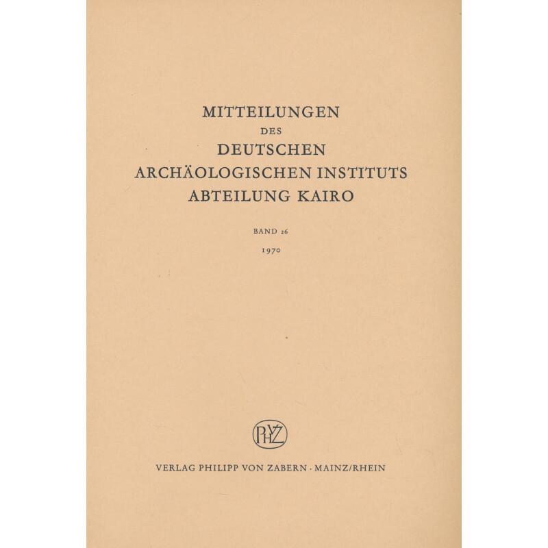 Mitteilungen Des Deutschen Arch Ologischen Instituts