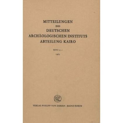 Mitteilungen des Deutschen Archäologischen Instituts - Abteilung Kairo, Band 31,2 - 1975