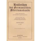 Reallexikon der Germanischen Altertumskunde - dritter...