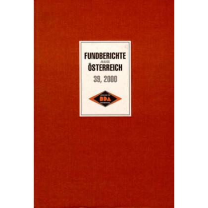 Fundberichte aus Österreich, Band 39 - 2000