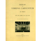 Bericht des Vereins Carnuntum in Wien für das Jahr...